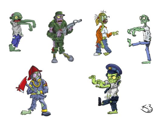 Zombies | 4 hr Per Zombie Drawing Time | 12/11/2013